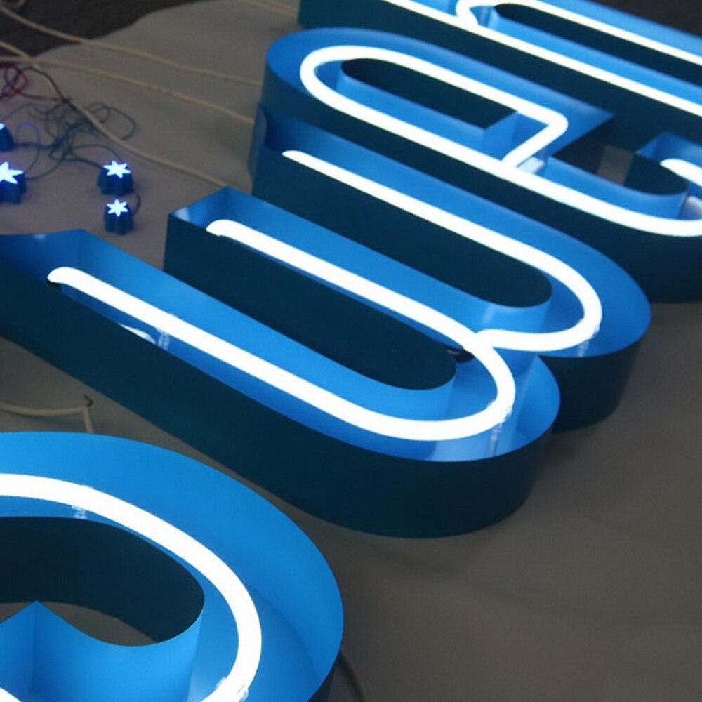 Специальная нержавеющая сталь канал письмо знак со стеклянной неоновой трубкой металлической рамкой стеклянная трубка Кастомизация для