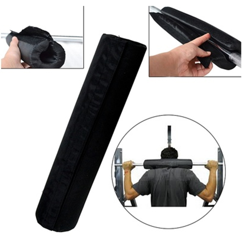 Barbell Pad Black Nylon Oxford Gripper Squat Protection Gel Cover Supports Sports Shoulder