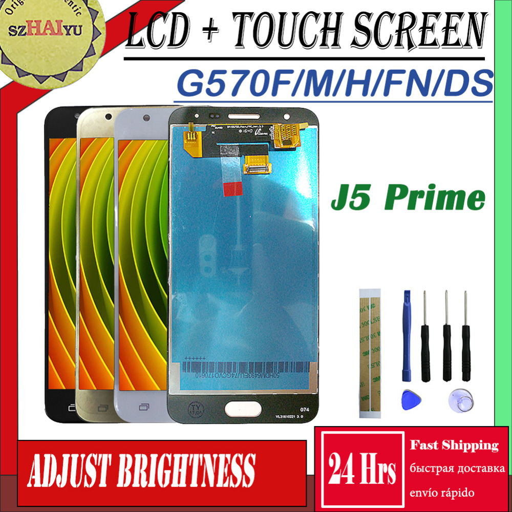 SM-G570FN/F/M/H/DS Für <font><b>Samsung</b></font> Galaxy <font><b>J5</b></font> <font><b>Prime</b></font> LCD <font><b>Display</b></font> + Touch Screen G570 g570F G570K G570L Bildschirm Einstellen Helligkeit image