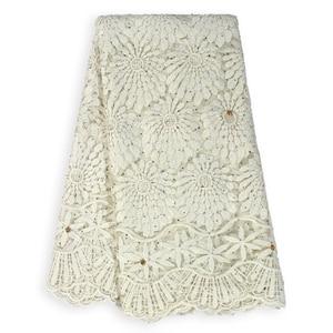 Image 5 - Tissu en dentelle française en dentelle de haute qualité, tissu nigérian en dentelle de Tulle africain, tenue de soirée, pour femmes, collection offres spéciales