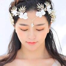 New Fashion Bridal Crown White Crystal Hair Accessories For Women Stylish Simple Juan Handmade Wedding