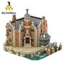 Buildmoc a mansão assombrada casa fantasma coleção castelo caber idéia modelo streetview blocos de construção tijolos presente do miúdo brinquedos 3944 pçs