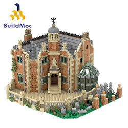 Buildmoc The Haunted Manor Ghost House Collection Castle Fit Idea Model Streetview Building Blocks Bricks Kid Gift Toys 3944 Pcs
