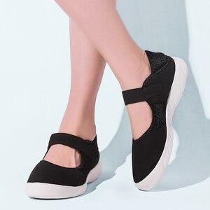 Image 4 - STQ Zapatos planos de plataforma para Mujer, zapatillas informales de malla transpirable, Zapatos náuticos, Señora, para otoño, 2020