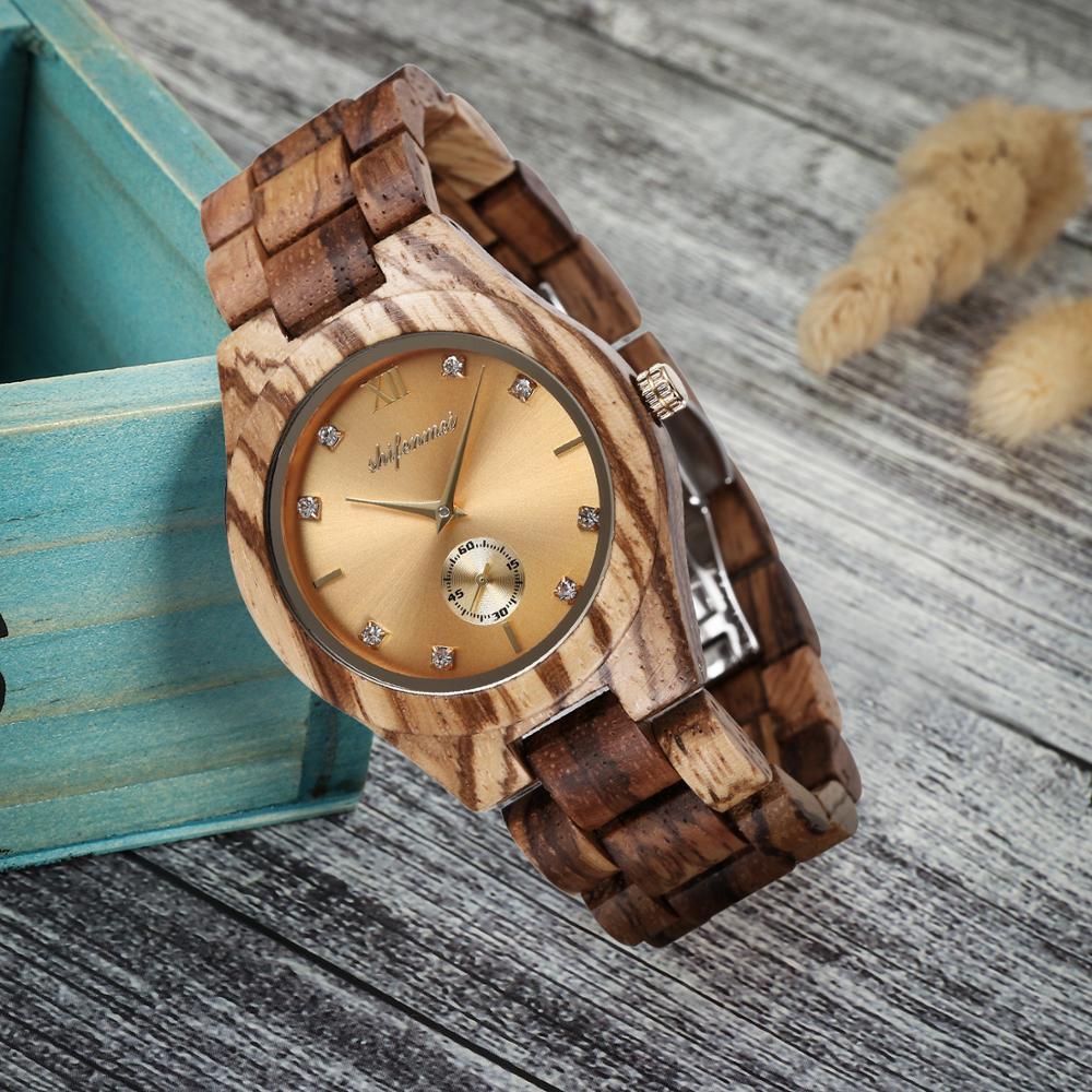 Shifenmei Women s Watch You Wooden Luxury New Zebra Wood Bracelet Quartz Ladies Watches Elegant Fashion