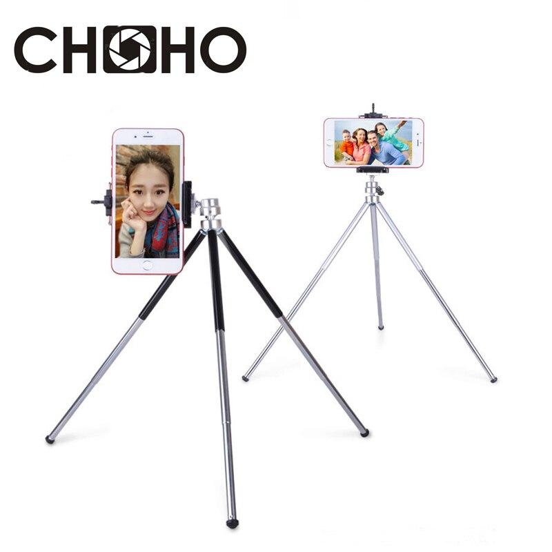 Aluminum Mini Tripod light Table Stand Extendable 3 Joint tripode Phone Holder Vlog Selfie For Digital Camera Cellphone iPhone