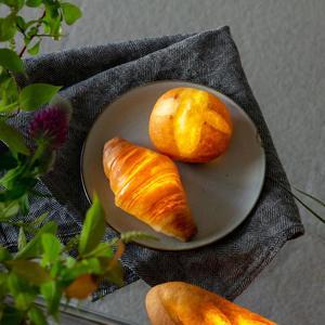 Image 1 - 手作りパン夜の光クリエイティブダイニングテーブルの寝室ホーム装飾シミュレーション LED パンランプバレンタインデーの恋人のギフト