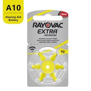 Image 2 - 60 pçs de ar zinco rayovac desempenho extra aparelho auditivo baterias a10 10a 10 pr70 aparelho auditivo bateria a10 frete grátis