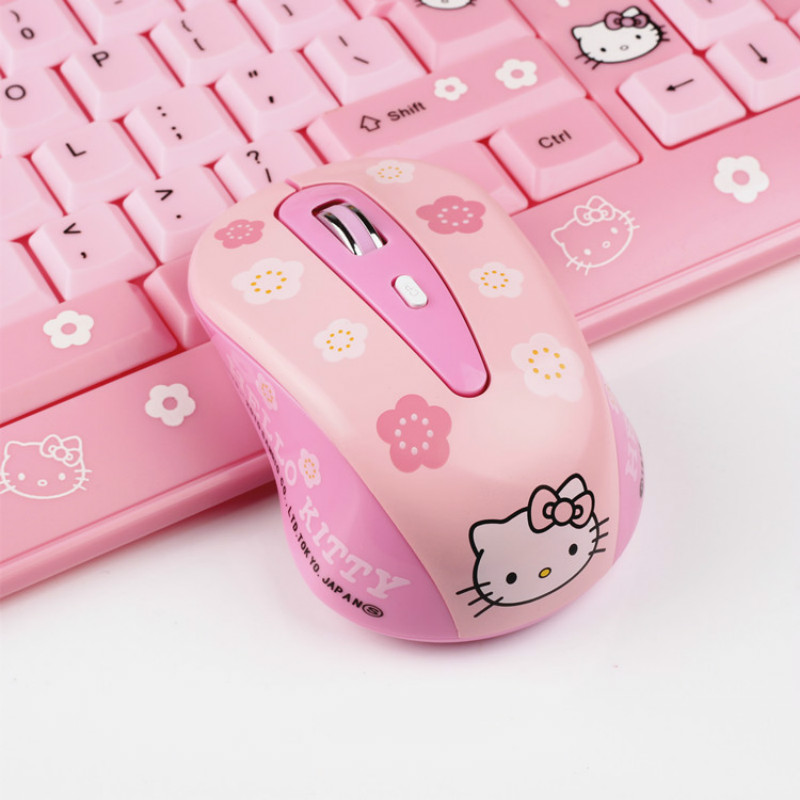 2.4G Wireless Mouse USB USB Receiver Optical Mouse Cute Cartoon Pink Computer Mouse Ergonomics 4 Button Gaming Mouse For Laptop