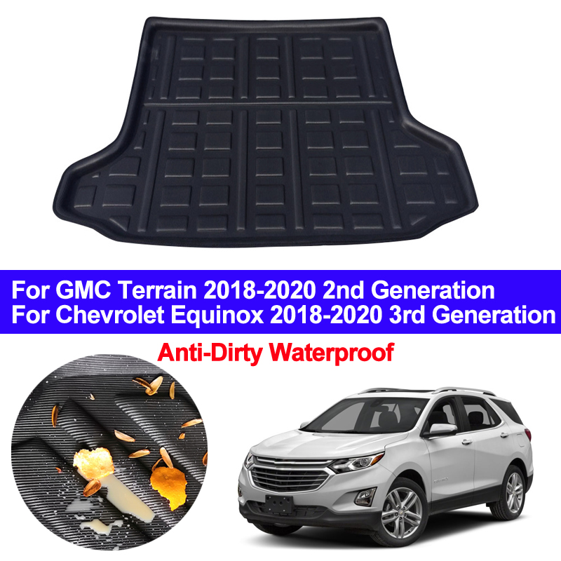 Car Auto Rear Trunk Mat Cargo Luggage Tray Boot Liner Carpet Floor Cape For Chevrolet Chevy Equinox / GMC Terrain 2018 2019 2020