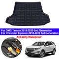 Voiture Auto coffre arrière tapis Cargo bagage plateau botte Liner tapis plancher Cape pour Chevrolet Chevy Equinox/GMC Terrain 2018 2019 2020