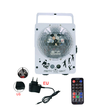 LED Shiny Crystal Ball 60 Modes RG Laser Projector DJ Disco For Party Holiday Bar Christmas Stage Light Decoration Lamp недорого