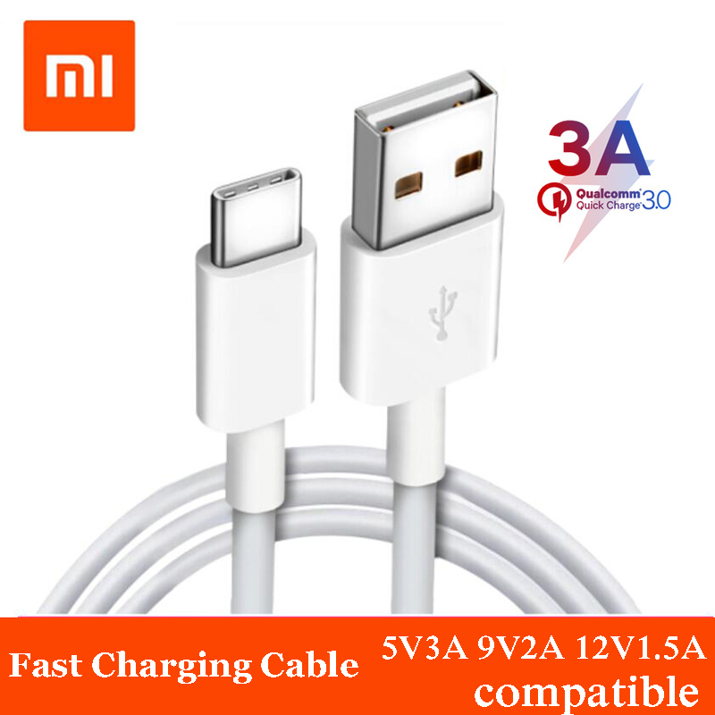 Original Xiaomi usb type c charging cable QC3.0 fast charger 3A cables Quick data line for xiaomi 9 MI 8 6 Redmi Note 7 k20 pro