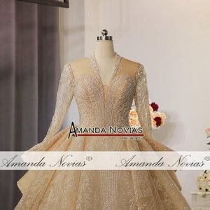 Image 2 - ใหม่หรูหรา Glitter ผ้างานแต่งงานชุดดูไบออกแบบ gowns แต่งงาน 2020