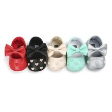Spring Soft Bottom Bow knot Autumn Babies Baby 3-colors Hear