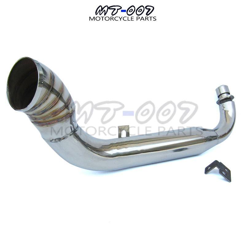 motorcycle motocross Stainless steel Turn Out Muffler Exhaust for 50cc 70cc 110cc <font><b>Monkey</b></font> <font><b>Bike</b></font> <font><b>Z50</b></font> dax motorcycle Muffler Exhaust image