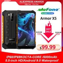 Ulefone teléfono inteligente Armor X5, 3GB RAM, 32GB rom, procesador MT6762, Octa Core, IP68, Android 10, resistente al agua, desbloqueo facial, OTG, NFC, 4G, LTE, versión Global