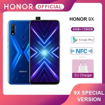 Купить Специальная версия Honor 9X смартфон 4G128G 48MP двойная камера 6,59 ''мобильный телефон Android 9 4000mAh OTA Google Play