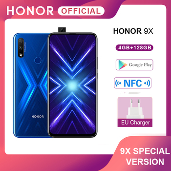 Перейти на Алиэкспресс и купить Специальная версия Honor 9X смартфон 4G128G 48MP двойная камера 6,59 ''мобильный телефон Android 9 4000mAh OTA Google Play