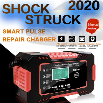 Car Battery Charger Digital LCD Display Full Automatic 12v 24v Car Battery Charger Power Puls Repair Chargers Wet Dry Lead Acid