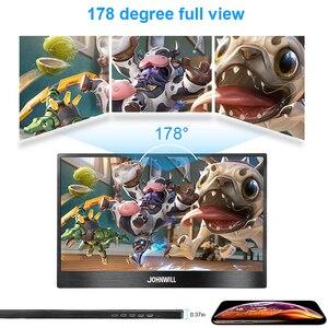 "Image 5 - المحمولة رصد 15.6 ""HDMI شاشات مراقبة تعمل باللمس شاشة الكريستال السائل نوع C 1080P IPS ل التوت فطيرة الكمبيوتر PS4 المحمول الهاتف Xbox التبديل"