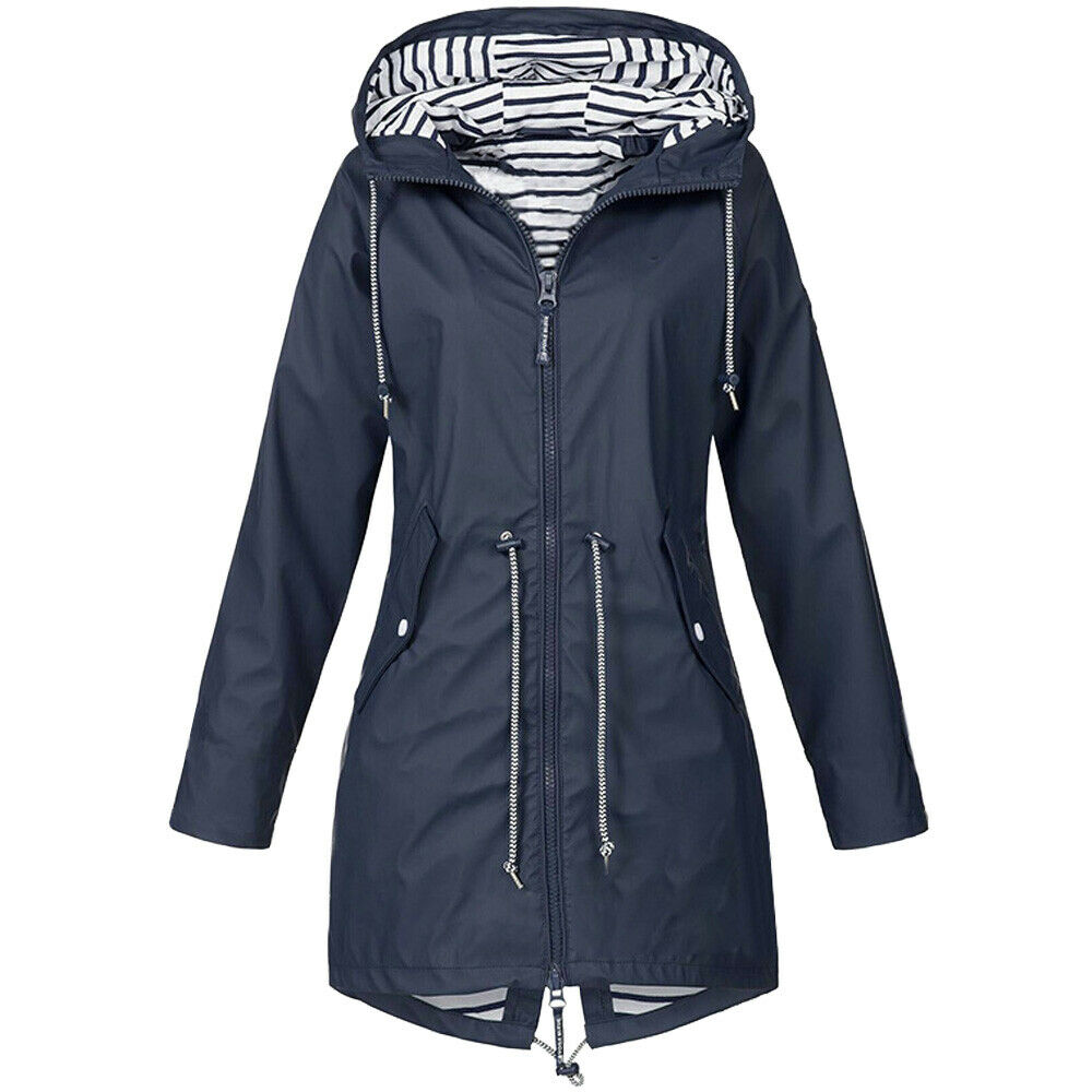exclusive range website for discount official supplier 047YANMEI# 6Colour S 5XL Womens Waterproof Jacket Raincoat Hooded ...