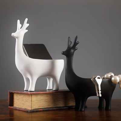 Nordic deer ornament Modern style home decoration resin craft jewelry storage Creative