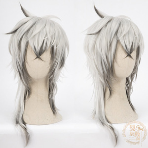 Image 4 - DIOCOS Arknights AMIYA Siege Jetfire Silver Grey Cosplay Wigs Heat Resistant Synthetic Wig for Halloween Party