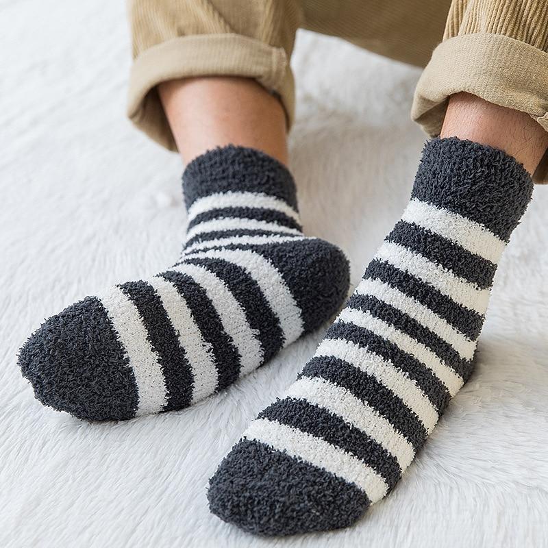 3 Pairs Boys Girls Warm Socks Floor Socks Towel Socks Fluffy Coral Velvet Socks Anti-Slip Floor Home Winter Fuzzy Socks Christmas Socks Gift with Box