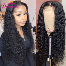 Wig 13x4 Remy-Hair Water-Wave Lace-Front Pre-Plucked Women Brazilian for 4x4 Closure
