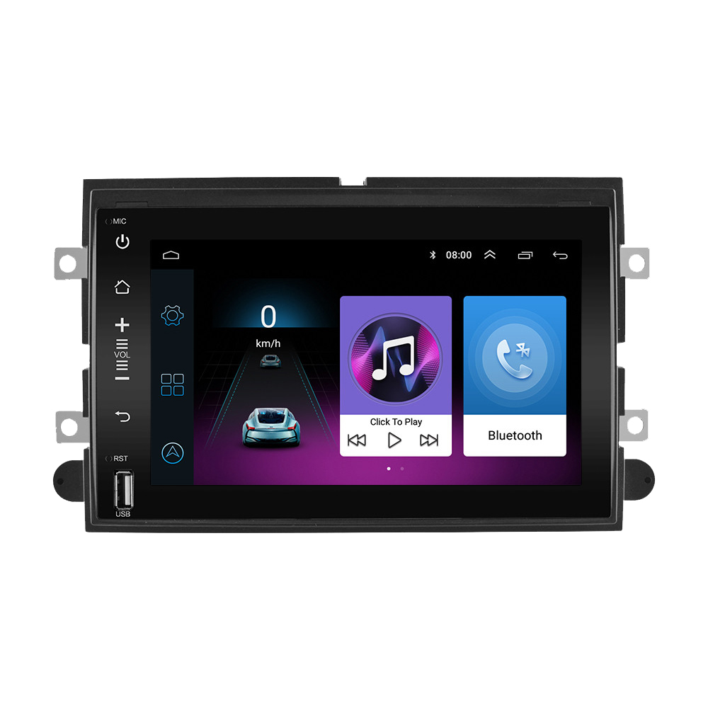 2 Din Android Car Radio multimedia player For Ford F150 F250 F350 500 Explorer Focus Fusion Mustang Edge Navigation GPS image