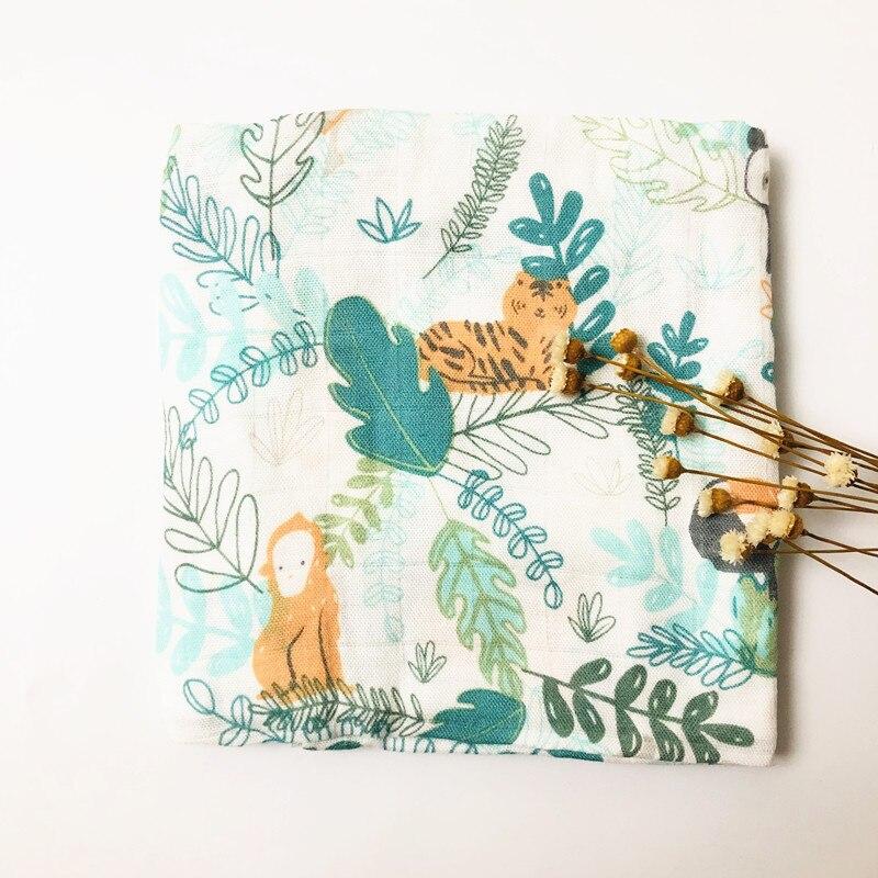Детское бамбуковое одеяло из органического хлопка для новорожденных, муслиновое Пеленальное полотенце для кормления - Цвет: panda bamboo