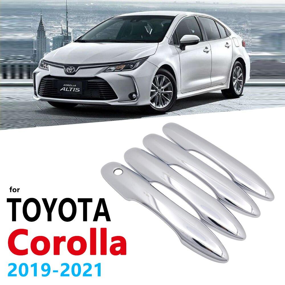 Хромированная накладка на ручки для Toyota Corolla Auris E210 2019 2020 2021, автомобильные аксессуары, наклейки, автостайлинг, ручка 210