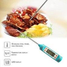 TP101 приготовления пищи Мяса термометр с ЖК-дисплеем экран Зонд из нержавеющей стали кухонная печь для барбекю жидкие кухонные принадлежности