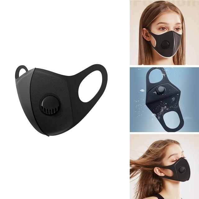 1/5/10Pcs Pollution Mask Reusable Washable Mascarilla Masque Maschera Air Dust Proof Smoke Pollution Mask Respirator Mask Makes 1