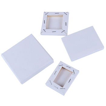 1Pc Mini Stretched Artists Canvas Art Drawing Board Blank Canvas Painting Acrylic Oil Paint DIY Craft Supply