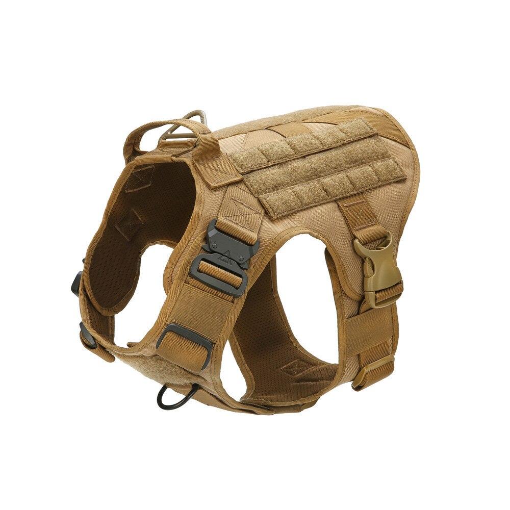 Chaleco táctico para perros MXSLEUT transpirable ropa militar para perros K9 arnés de tamaño ajustable de entrenamiento de caza Molle perro chaleco arnés Chaleco táctico de gran raza para perros, equipo táctico para fanáticos del ejército, ropa para perros, correas de pecho K9