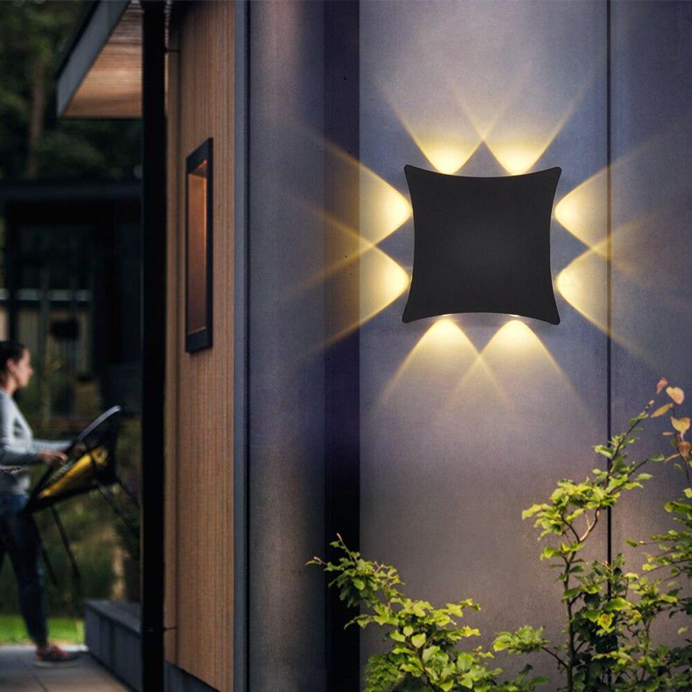 ar livre arandela luz jardim varanda decorativa