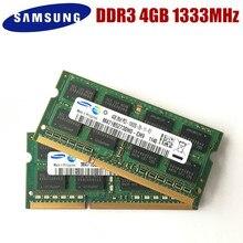 سامسونج 4GB 2RX8 PC3 10600S DDR3 1333Mhz 4gb ذاكرة الكمبيوتر المحمول 4G PC3 10600S 1333MHZ وحدة الكمبيوتر المحمول SODIMM RAM