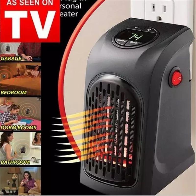 Household Heater 400W PTC EU Plug Adjustable Temperature Electric Heating Office Air Heater