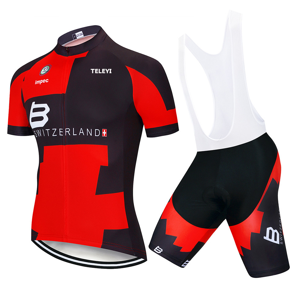 New 2019 Men Pro Team Cycling Clothing Short Sleeve Jersey bib shorts Suit A50
