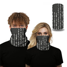 American Flag Digital Printing Magic Mouth Mask Lightweight Face Scarf Sun Protection Outdoor Riding Masks Protective