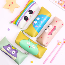 Korean cute eye pencil case waterproof hand stationery cartoon stereo bag