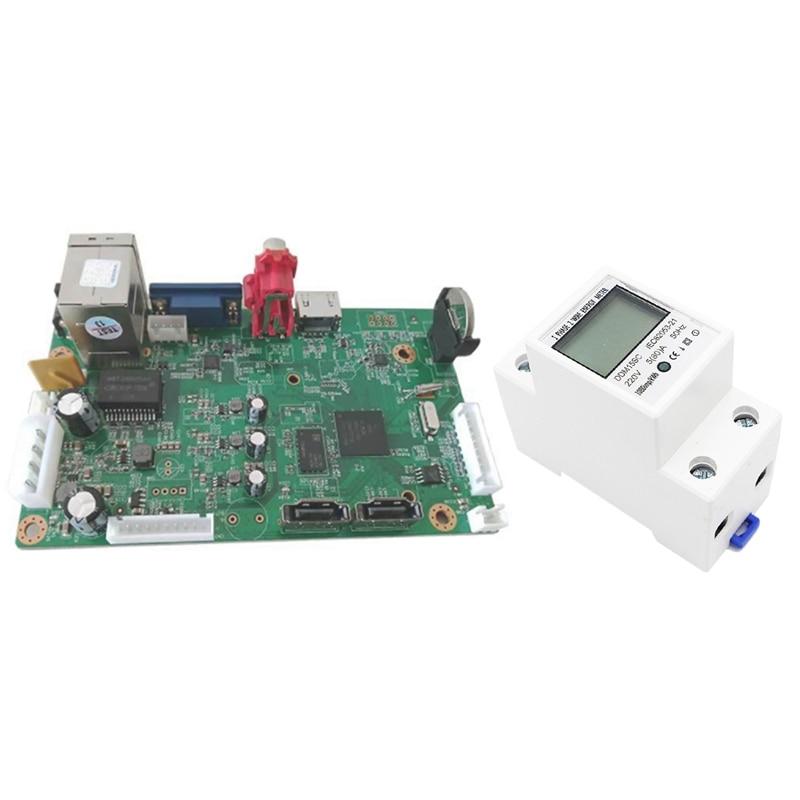 2 Pcs Accessories: 1 Pcs 32Chx1080P NVR Board H.265 NVR Network Video Recorder IP Camera & 1 Pcs 5-80A LCD Digital Display Singl