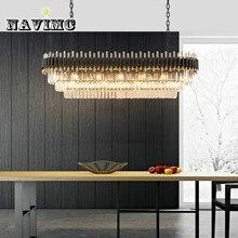 Современные художественные прямоугольные хрустальные светильники освещение для кухни ресторана AC110-240V
