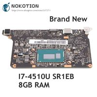 NOKOTION For Lenovo yoga 2 pro Laptop Motherboard I7 4510U SR1EB CPU 8GB RAM VIUU3 NM A074 5B20G38213 Main Board