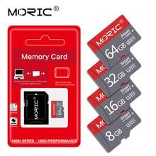 MORIC – carte mémoire TF de classe 10, 16 go/8 go/64 go/32 go/128 go, haute vitesse, avec adaptateur