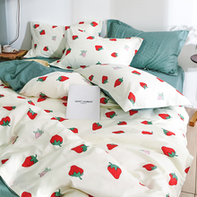 Стильный маленький свежий хлопковый комплект постельного белья из четырех предметов, простыня для девочек, пододеяльник в стиле принцессы с сердечками