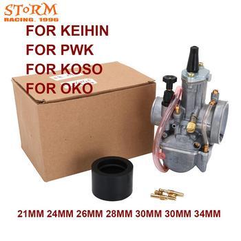 2T 4T Universal para Park Koso OKO Carburador de la motocicleta Carburador 21 24 26 28 30 32 34mm con poder Jet para Racing Moto