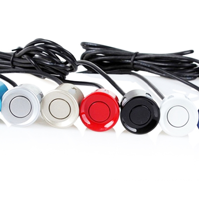 22mm sensör siyah kırmızı beyaz gümüş şampanya altın rengi araba park sensörü kiti monitör ters sistemi